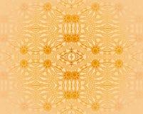 Sömlös apelsinbeiga för blom- prydnader Royaltyfri Fotografi
