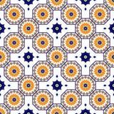 Sömlös arabisk modell för vektor Arabesque Ramazan, hälsning, lycklig månadRamadan Sömlös geometrimodell för islam vektor illustrationer