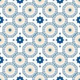 Sömlös arabisk modell för vektor Arabesque Ramazan, hälsning, lycklig månadRamadan Sömlös geometrimodell för islam stock illustrationer