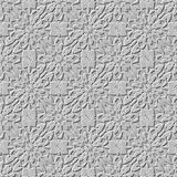 Sömlös arabisk stenarabesquebakgrund Arkivfoton