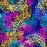 Sömlös avriven modellborste för vektor gul blå rosa färgfärg på svart bakgrund Hand målad lantgårdtextur färgpulver Fotografering för Bildbyråer