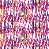 Sömlös avriven modellborste för vektor gul violett rosa färgfärg på witebakgrund Hand målad lantgårdtextur färgpulver Arkivbilder