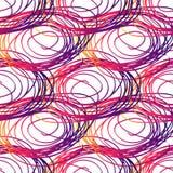 Sömlös avriven modellborste för vektor gul violett rosa färgfärg på witebakgrund Hand målad lantgårdtextur färgpulver Royaltyfri Foto