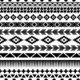 Sömlös aztec modell Royaltyfri Bild