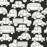 Sömlös bakgrund av bilar Arkivfoton