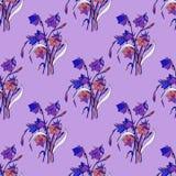 Sömlös bakgrund av blommor Royaltyfri Bild