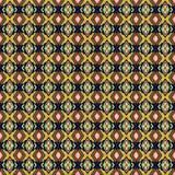 Sömlös bakgrund av den geometriska prydnaden med guling gör randig a Royaltyfri Bild