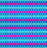Sömlös bakgrund av den geometriska prydnaden med rosa färgband och Royaltyfri Foto