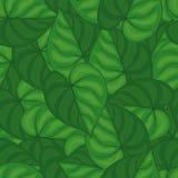 Sömlös bakgrund av gröna sidor seamless modell Royaltyfria Foton