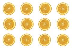 Sömlös bakgrund av nya orange skivor Arkivbild