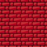 Sömlös bakgrund av tegelstenar Röd tegelstenvägg masonry Röd lutning, textur vektor illustrationer