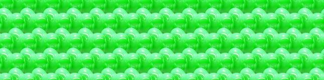 Sömlös bakgrund 3d med skinande gröna hjärtor Arkivbild