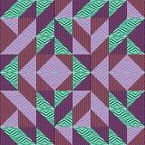Sömlös bakgrund för abstrakt begrepp för triangelmodellhöst med geometrisk moderiktig texturmemphis pastell royaltyfri illustrationer