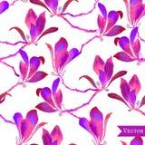 Sömlös bakgrund för abstrakt vattenfärg för vektor blom- Fotografering för Bildbyråer