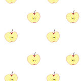 Sömlös bakgrund för Apple frukt Royaltyfria Foton