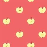Sömlös bakgrund för Apple frukt Arkivbilder