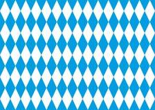 Sömlös bakgrund för bavarianflaggavektor Royaltyfri Fotografi