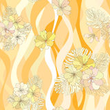 Sömlös bakgrund för blommabuketter. stock illustrationer