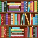Sömlös bakgrund för bokhyllor Arkivbild
