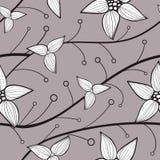 Sömlös bakgrund för delikata blommor av linjerna vektor Arkivfoto