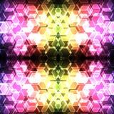 Sömlös bakgrund för färgrik sexhörningsbokeh vektor illustrationer