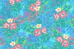 Sömlös bakgrund för färgrik tropisk modell Arkivbilder