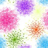 Sömlös bakgrund för färgrik vanlig hortensiablomma royaltyfri illustrationer