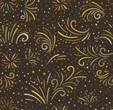 Sömlös bakgrund för festlig fyrverkerivektor Royaltyfri Bild