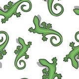 Sömlös bakgrund för grön gecko vektor illustrationer