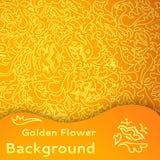 Sömlös bakgrund för guld- blomma. Royaltyfri Foto