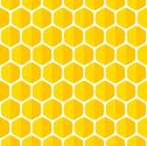 Sömlös bakgrund för härlig honungskaka Arkivbilder