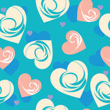 Sömlös bakgrund för hjärtor royaltyfri illustrationer