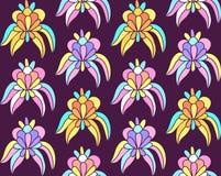 Sömlös bakgrund för imaginära tropiska exotiska blommor Fotografering för Bildbyråer