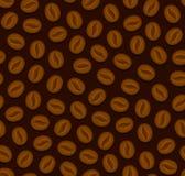 Sömlös bakgrund för kaffe med bönor vektor Arkivbilder