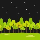 Sömlös bakgrund för landskap Nattbakgrund Royaltyfri Bild