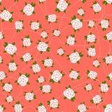 Sömlös bakgrund för liten ros Royaltyfri Illustrationer