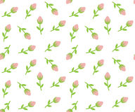 Sömlös bakgrund för mycket små rosor Royaltyfri Bild