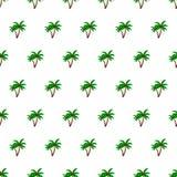 Sömlös bakgrund för palmträd för modellsommarstrand med mallen i provkartor för din bekvämlighet Enkelt att använda vektor illustrationer