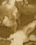 Sömlös bakgrund för papper för vatten för vattenfärgkaffefärg Abstrakt brun rasterillustration Arkivfoton