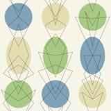 Sömlös bakgrund för Retro atom- mitt- århundradetappning för 50-tal vektor illustrationer