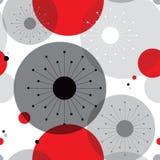 Sömlös bakgrund för Retro atom- mitt- århundradetappning för 50-tal stock illustrationer