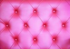 Sömlös bakgrund för rosa färglädertextur Arkivfoto