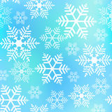 Sömlös bakgrund för snöflingajul stock illustrationer