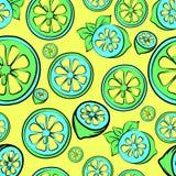 Sömlös bakgrund för sommarförsäljning med citronen Arkivfoton