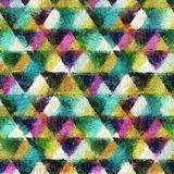 Sömlös bakgrund för stil för triangelvattenfärg stock illustrationer