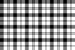 Sömlös bakgrund för svart vit milytary tartan Fotografering för Bildbyråer