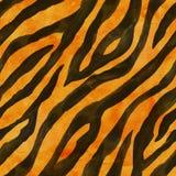 Sömlös bakgrund för tigerhud Fotografering för Bildbyråer