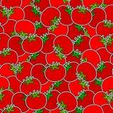 Sömlös bakgrund för tomater Arkivbilder