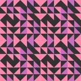 Sömlös bakgrund för triangelmodellabstrakt begrepp med geometrisk moderiktig texturmemphis pastell vektor illustrationer