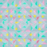 Sömlös bakgrund för triangelmodellabstrakt begrepp med geometrisk moderiktig texturmemphis pastell royaltyfri illustrationer